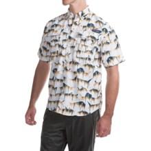 Columbia Sportswear PFG Super Bahama Shirt - UPF 30, Short Sleeve (For Men) in White/New Wave - Closeouts