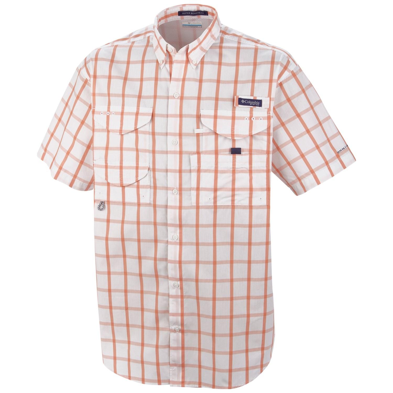 Columbia sportswear pfg super bonehead classic shirt upf for Design your own t shirt big and tall
