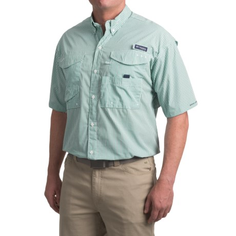 Columbia Sportswear PFG Super Bonehead Classic Shirt - UPF 30, Short Sleeve (For Big and Tall Men) in Skyler Multi Gingham