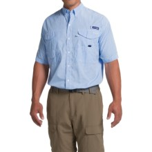 Columbia Sportswear PFG Super Bonehead Classic Shirt - UPF 30, Short Sleeve (For Big and Tall Men) in White Cap Gingham - Closeouts