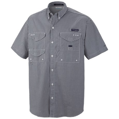 Columbia Sportswear PFG Super Bonehead Classic Shirt - UPF 30, Short Sleeve (For Men) in Collegiate Navy Gingham