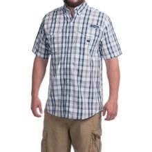 Columbia Sportswear PFG Super Bonehead Classic Shirt - UPF 30, Short Sleeve (For Men) in Collegiate Navy Multi Plaid - Closeouts