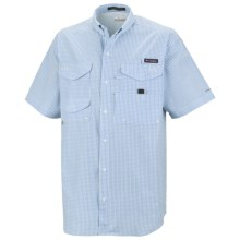 Columbia Sportswear PFG Super Bonehead Classic Shirt - UPF 30, Short Sleeve (For Men) in Sail/Gingham - Closeouts
