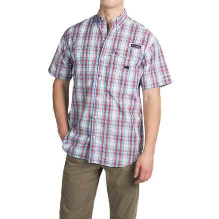 Columbia Sportswear PFG Super Bonehead Classic Shirt - UPF 30, Short Sleeve (For Men) in Sail Plaid - Closeouts