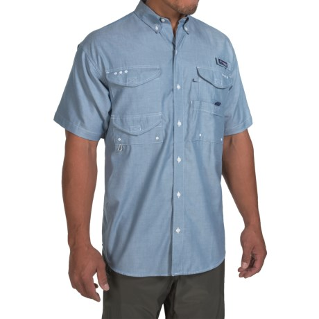 Columbia Sportswear PFG Super Bonehead Classic Shirt - UPF 30, Short Sleeve (For Men) in Steel Oxford