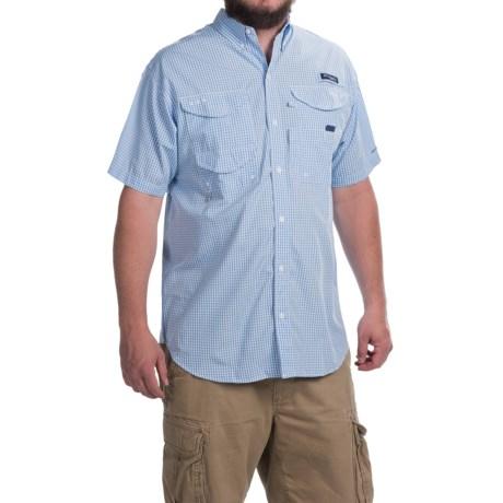 Columbia Sportswear PFG Super Bonehead Classic Shirt - UPF 30, Short Sleeve (For Men) in White Cap Gingham