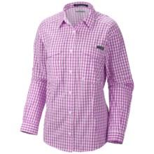 Columbia Sportswear PFG Super Bonehead Shirt - UPF 30, Long Sleeve (For Women) in Blossom Pink/Gingham - Closeouts
