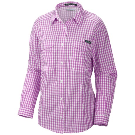 Columbia Sportswear PFG Super Bonehead Shirt - UPF 30, Long Sleeve (For Women) in Blossom Pink/Gingham