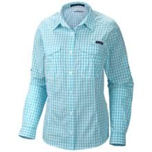 Columbia Sportswear PFG Super Bonehead Shirt - UPF 30, Long Sleeve (For Women) in Clear Blue/New Gingham - Closeouts