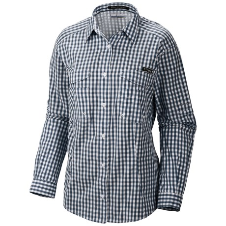 Columbia Sportswear PFG Super Bonehead Shirt - UPF 30, Long Sleeve (For Women) in Collegiate Navy/New Gingham
