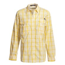 Columbia Sportswear PFG Super Bonehead Shirt - UPF 30, Long Sleeve (For Women) in Dandelion/Big Buffalo - Closeouts