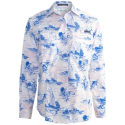 Columbia Sportswear PFG Super Bonehead Shirt - UPF 30, Long Sleeve (For Women) in Collegiate Navy/New Gingham