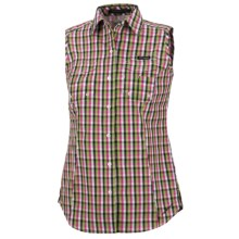 Columbia Sportswear PFG Super Bonehead Shirt - UPF 30, Sleeveless (For Women) in Black Multi Gingham - Closeouts