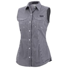 Columbia Sportswear PFG Super Bonehead Shirt - UPF 30, Sleeveless (For Women) in Eclipse Blue Gingham - Closeouts