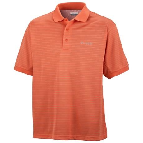 Columbia Sportswear PFG Super Cast Polo Shirt - UPF 30, Short Sleeve (For Men) in Bright Peach/Cool Grey
