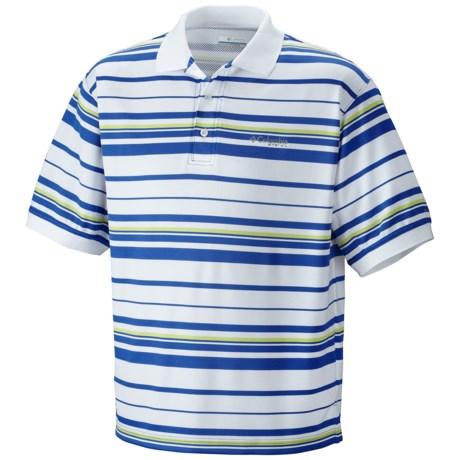 Columbia Sportswear PFG Super Cast Polo Shirt - UPF 30, Short Sleeve (For Men) in Vivid Blue Stripe