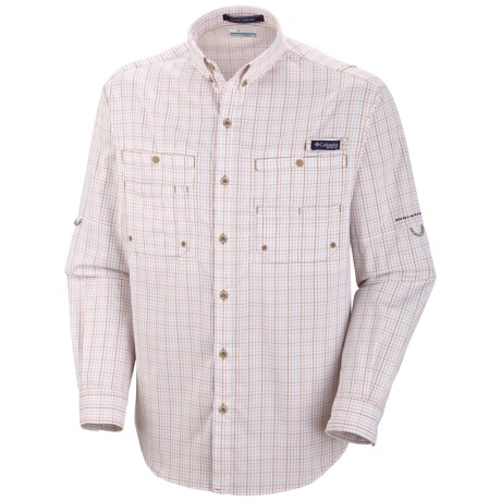 Columbia Sportswear PFG Super Tamiami Fishing Shirt - UPF 40, Long Sleeve (For Men) in Sorbet/Gingham
