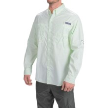 Columbia Sportswear PFG Super Tamiami Fishing Shirt - UPF 40, Long Sleeve (For Men) in Emerald City Gingham - Closeouts