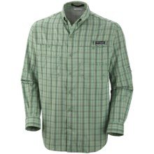 Columbia Sportswear PFG Super Tamiami Fishing Shirt - UPF 40, Long Sleeve (For Men) in Feldspar/Multi Plaid - Closeouts