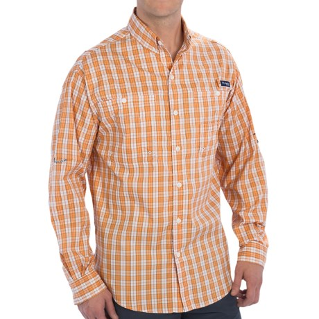 Columbia Sportswear PFG Super Tamiami Fishing Shirt - UPF 40, Long Sleeve (For Men) in Koi/Check