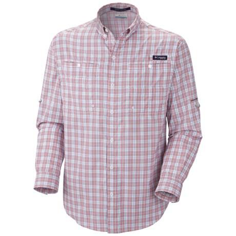 Columbia Sportswear PFG Super Tamiami Fishing Shirt - UPF 40, Long Sleeve (For Men) in Sorbet/Double Check