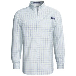 Columbia Sportswear PFG Super Tamiami Fishing Shirt - UPF 40, Long Sleeve (For Men) in British Tan/Double Check