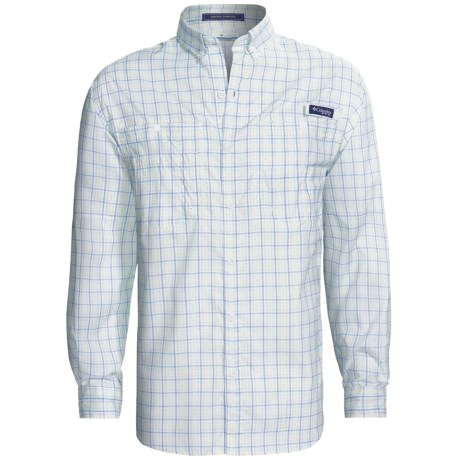 Columbia Sportswear PFG Super Tamiami Fishing Shirt - UPF 40, Long Sleeve (For Men) in Sunlit/Double Check