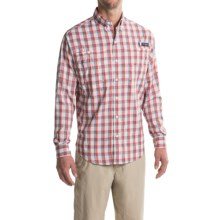 Columbia Sportswear PFG Super Tamiami Fishing Shirt - UPF 40, Long Sleeve (For Men) in Sunset Red Plaid - Closeouts