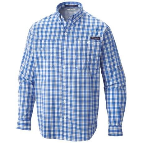 Columbia Sportswear PFG Super Tamiami Fishing Shirt - UPF 40, Long Sleeve (For Men) in Vivid Blue/Check
