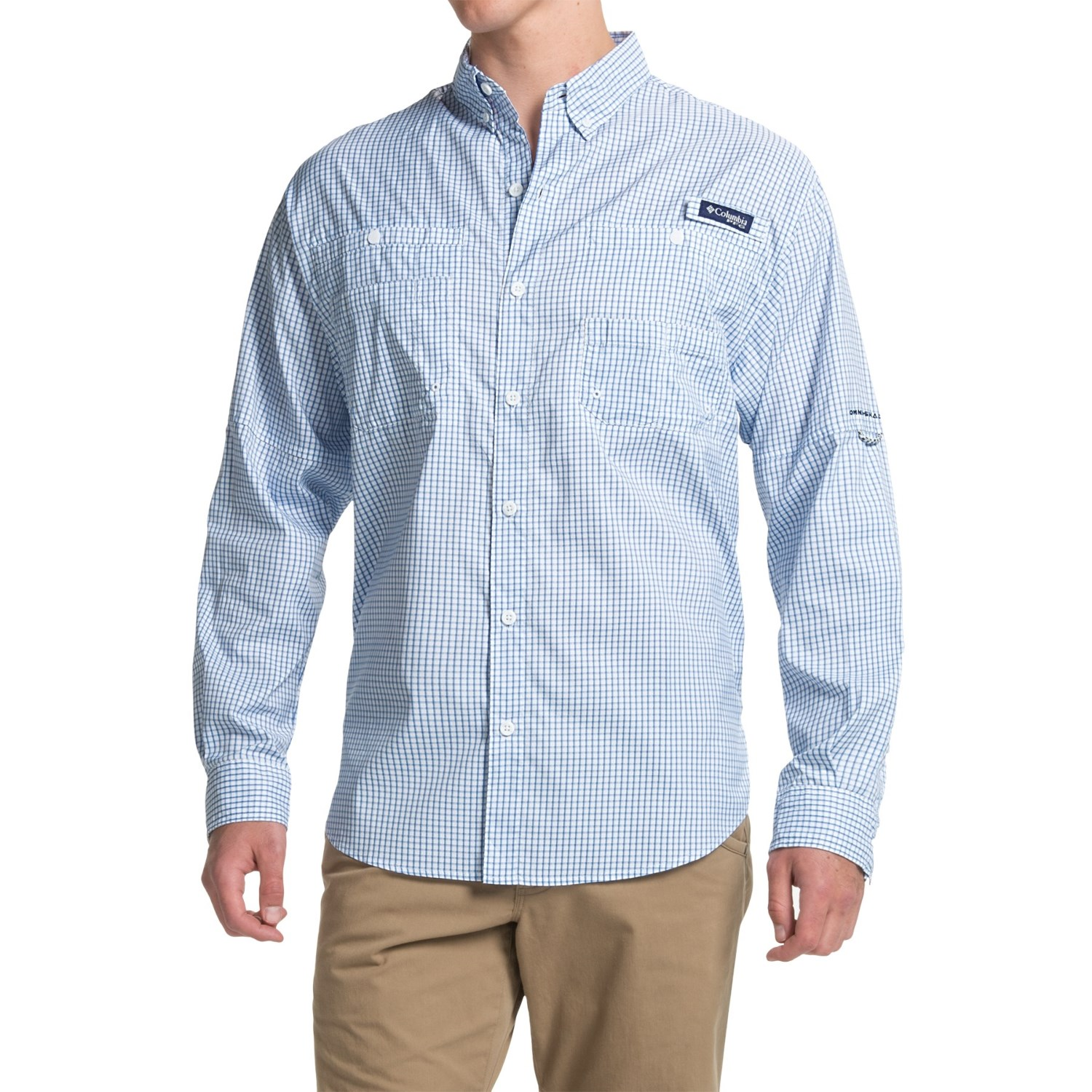 Columbia sportswear pfg super tamiami fishing shirt for men for Mens fishing shirts