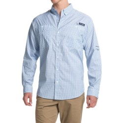 Columbia Sportswear PFG Super Tamiami Fishing Shirt - UPF 40, Long Sleeve (For Men) in Vivid Blue Gingham