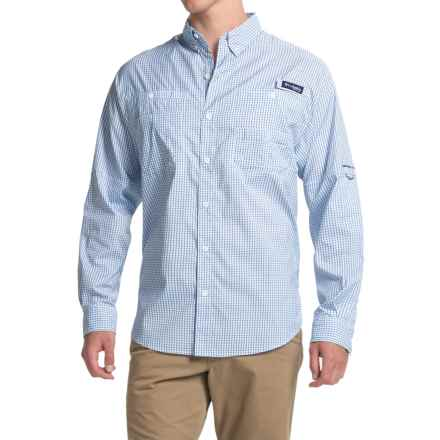 Columbia Sportswear PFG Super Tamiami Fishing Shirt - UPF 40, Long Sleeve (For Men) in Vivid Blue Gingham - Closeouts