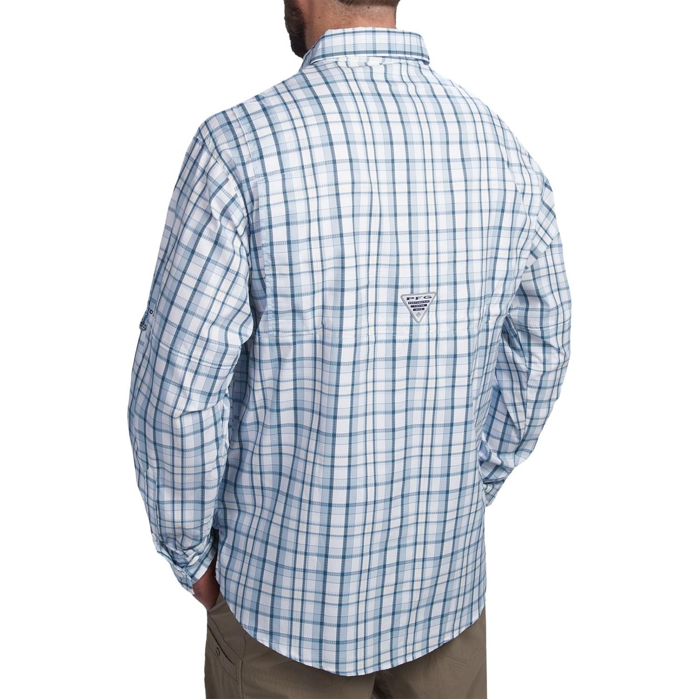 Columbia sportswear pfg super tamiami fishing shirt for men for Long sleeve fishing shirts