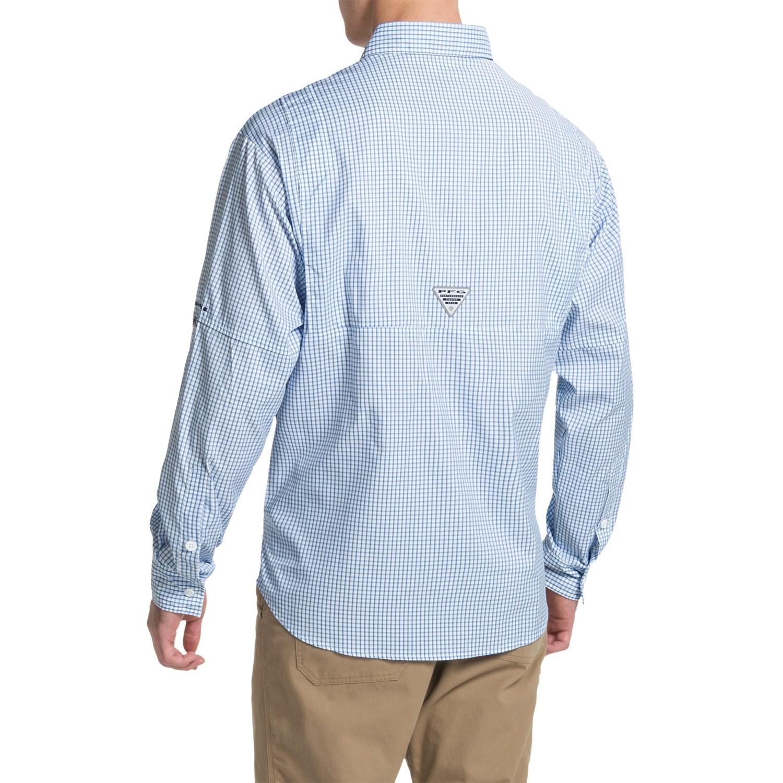 Columbia sportswear pfg super tamiami fishing shirt for men for Long sleeve fishing t shirts