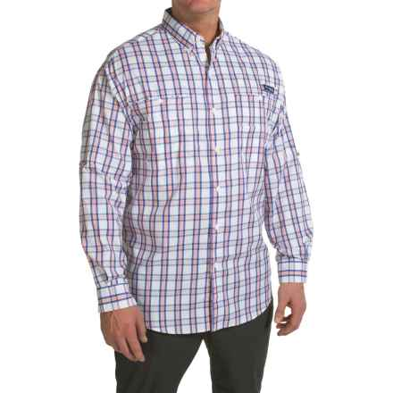 Columbia Sportswear PFG Super Tamiami Shirt - UPF 40, Long Sleeve (For Big Men) in Sorbet Multi Check - Closeouts