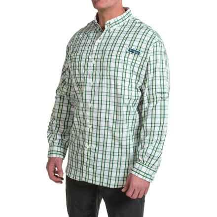 Columbia Sportswear PFG Super Tamiami Shirt - UPF 40, Long Sleeve (For Big Men) in Wildwood Green Multi Check - Closeouts
