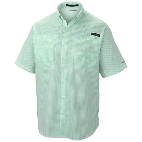 Columbia Sportswear PFG Super Tamiami Shirt - UPF 40, Short Sleeve (For Men) in Chameleon Green