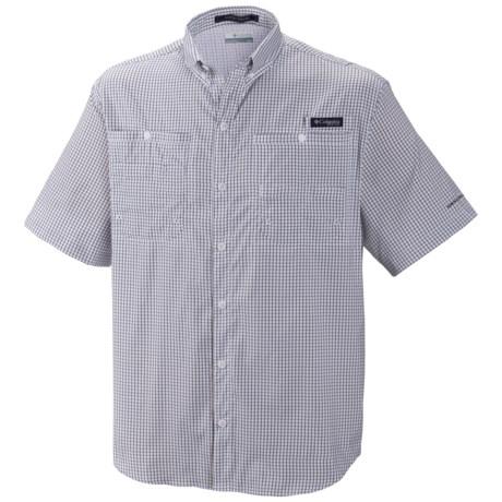 Columbia Sportswear PFG Super Tamiami Shirt - UPF 40, Short Sleeve (For Men) in Collegiate Navy Gingham