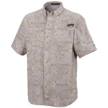 Columbia Sportswear PFG Super Tamiami Shirt - UPF 40, Short Sleeve (For Men) in Cool Grey/Island Graffiti - Closeouts