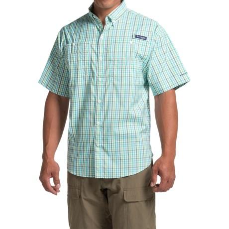 Columbia Sportswear PFG Super Tamiami Shirt - UPF 40, Short Sleeve (For Men) in Napa Green Mini Plaid
