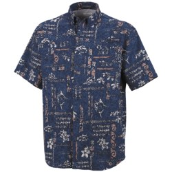 Columbia Sportswear PFG Super Tamiami Shirt - UPF 40, Short Sleeve (For Men) in Collegiate Navy/Pescado Gingham