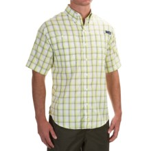 Columbia Sportswear PFG Super Tamiami Shirt - UPF 40, Short Sleeve (For Men) in Tippet Plaid - Closeouts