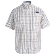 Columbia Sportswear PFG Super Tamiami Shirt - UPF 40, Short Sleeve (For Men) in White/Multi Plaid - Closeouts