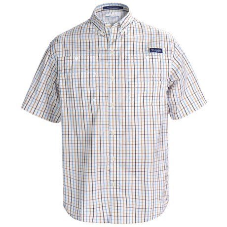 Columbia Sportswear PFG Super Tamiami Shirt - UPF 40, Short Sleeve (For Men) in Sail Red Check