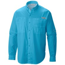 Columbia Sportswear PFG Tamiami II Shirt - UPF 40, Long Sleeve (For Big and Tall Men) in Bounty Blue - Closeouts