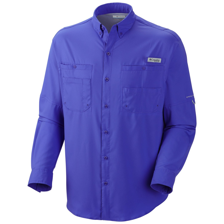 Columbia sportswear pfg tamiami ii shirt upf 40 long for Men s upf long sleeve shirt