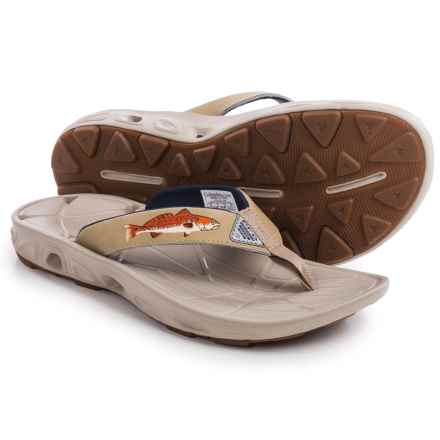 Columbia Sportswear PFG Techsun Vent Fishflip Flip-Flops (For Men) in British Tan/Redfish - Closeouts