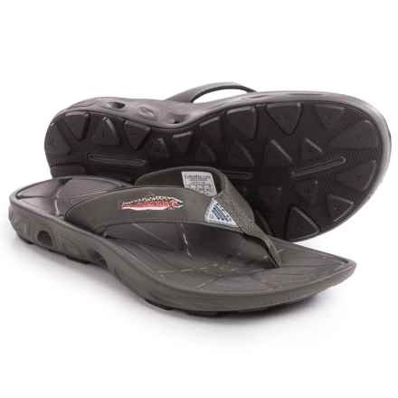 Columbia Sportswear PFG Techsun Vent Fishflip Flip-Flops (For Men) in Mud/Rainbow Trout - Closeouts