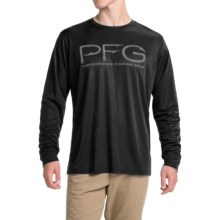 Columbia Sportswear PFG Terminal Hooks Shirt - Omni-Wick®, UPF 50, Long Sleeve (For Men) in Black - Closeouts