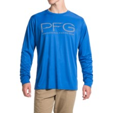 Columbia Sportswear PFG Terminal Hooks Shirt - Omni-Wick®, UPF 50, Long Sleeve (For Men) in Vivid Blue - Closeouts